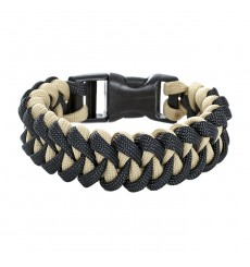DZI Shark Tooth Paracord Survival Bracelet with Plastic Buckle