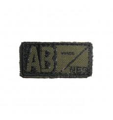 Condor Blood Type Velcro Patch - AB Neg - OD/Black